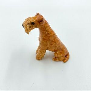 Vintage Lakeland Terrier Dog Sitting Figurine